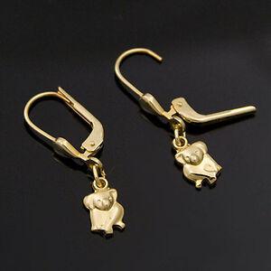 goldene-Ohrhaenger-333er-Gelbgold-8-Karat-Gold-Koala-Koalabaer-neu