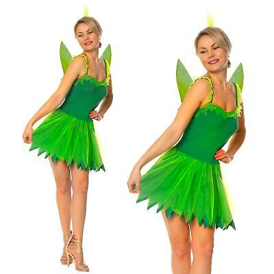 2019 Mode Adult Green Neverland Pixie Fairy Outfit Tinkerbell Fancy Dress Costume