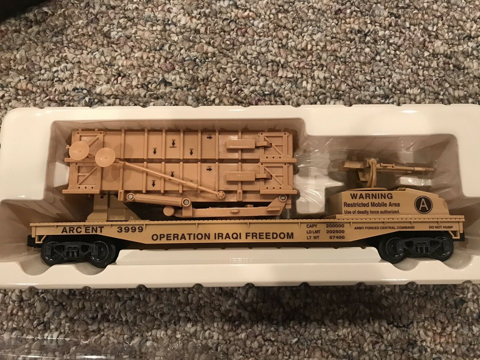 K-line K691-8029 Operation Iraqi Freedom Patriot Missile Battery Car O-Scale