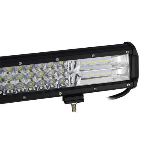 "17/"" Inch 252W LED Work Light Bar Flood Spot Combo Offroad Driving Lamp Car Truck"