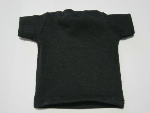 "1//6 Scale Tee Black Short Sleeves T-Shirt Red Heard For 12/"" Action Figure"