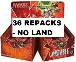 SALE-UNSTABLE Magic:Gathering REPACK 36 Pack Booster Box w/Rares+