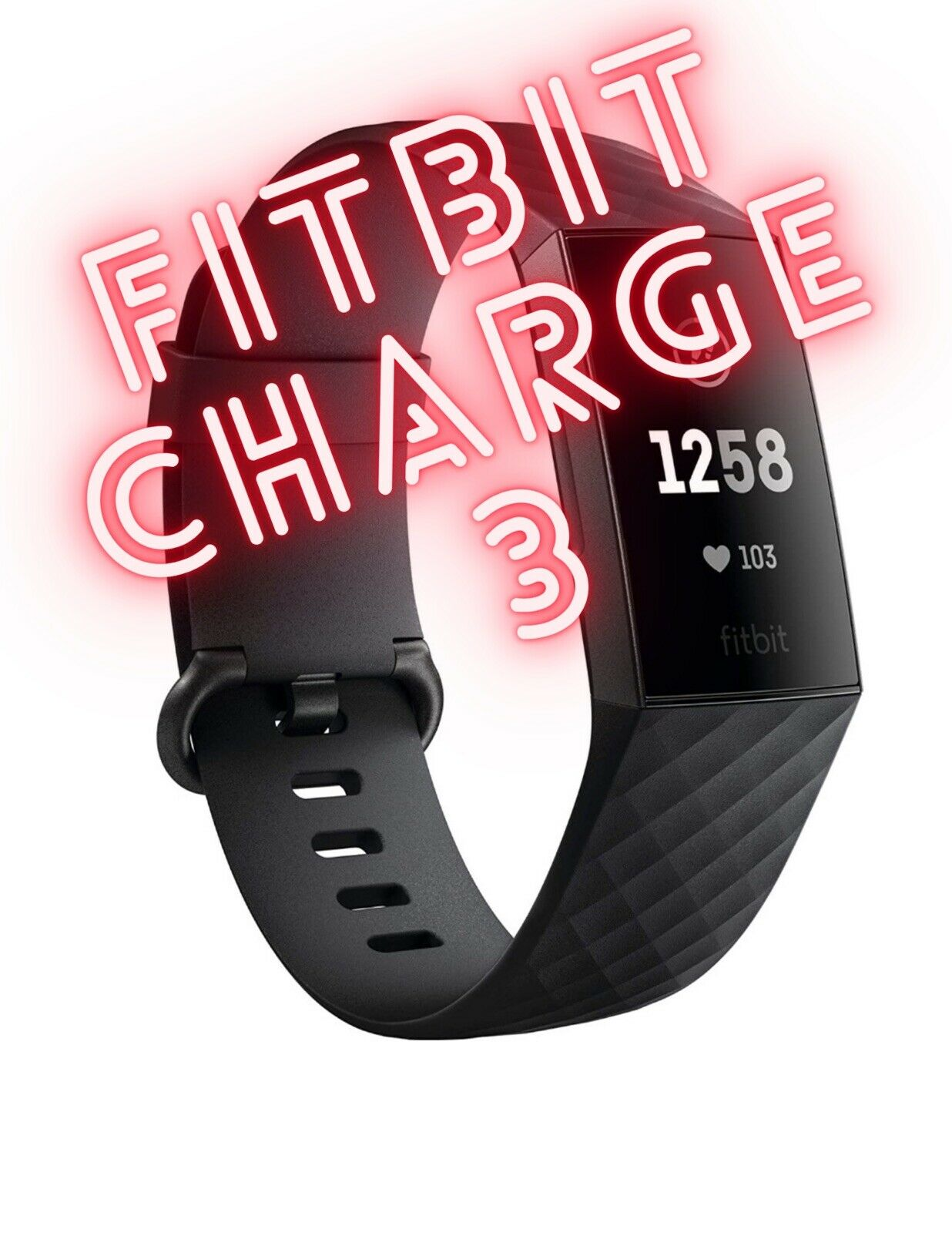 💪Fitbit Charge 3 Advanced Fitness Tracker Black Small Bands + Extra Band