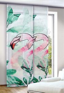 FLAMINGO-Pink-Flaechenvorhang-Schiebevorhang-Schiebegardinen-Paneel-inkl-Zubehoer