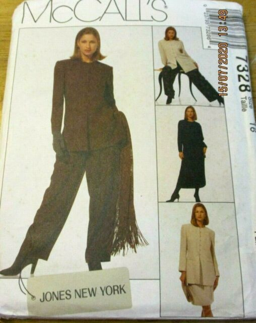 McCALL'S SEWING PATTERN NO. 7328 LADIES PANT SUIT & SKIRT SIZE 16