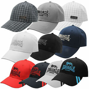 Lonsdale-Cap-Kappe-Bond-Classic-Cappy-Base-Herren-Schwarz-Weiss-Navy-Grau-S-XL