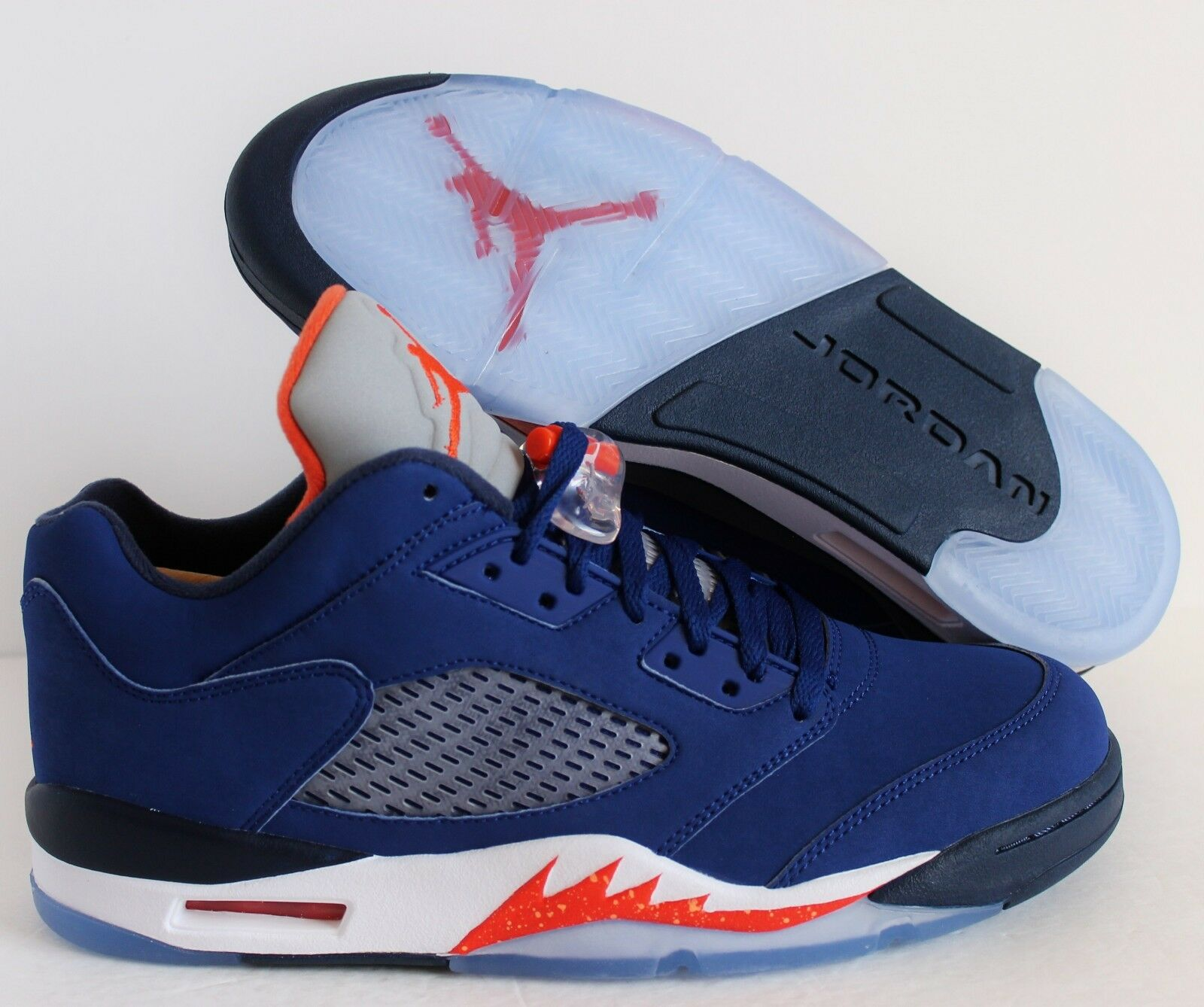 Nike Air Jordan 5 V Retro Low 'Knicks' 'Knicks' Low Royal Bleu-Orange sz 14 04d1f7