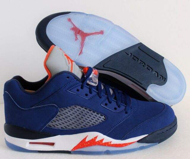 c5de25364fc2 Air Jordan 5 Retro Low Knicks Men Lifestyle SNEAKERS Deep Royal Blue ...