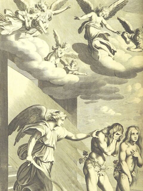 PAINTING MILTON 1695 GOD DEVIL ANGELS LARGE WALL ART PRINT POSTER PICTURE LF2179