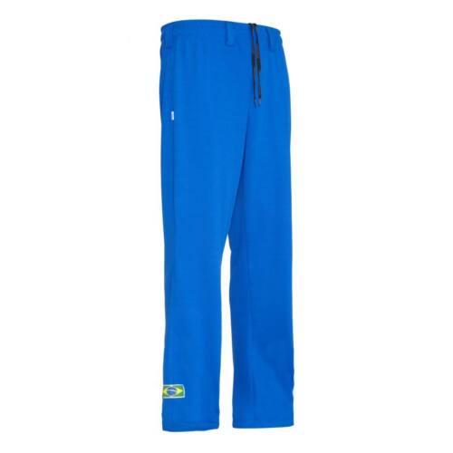 Unisex Blau Brasilien Capoeira Abada Kampfsport Elastisch Hose 5 Größen