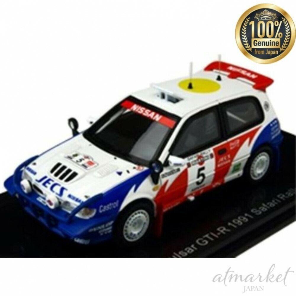 Lumyno 1 43 coche Nissan Pulsar GTI-R 91 Safari Rally S. Blomqvist B. Melan Japón