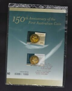 AD176-Australia-2005-Anniv-First-Australian-Coin-Stamp-Pin-Set-Limited-Edition