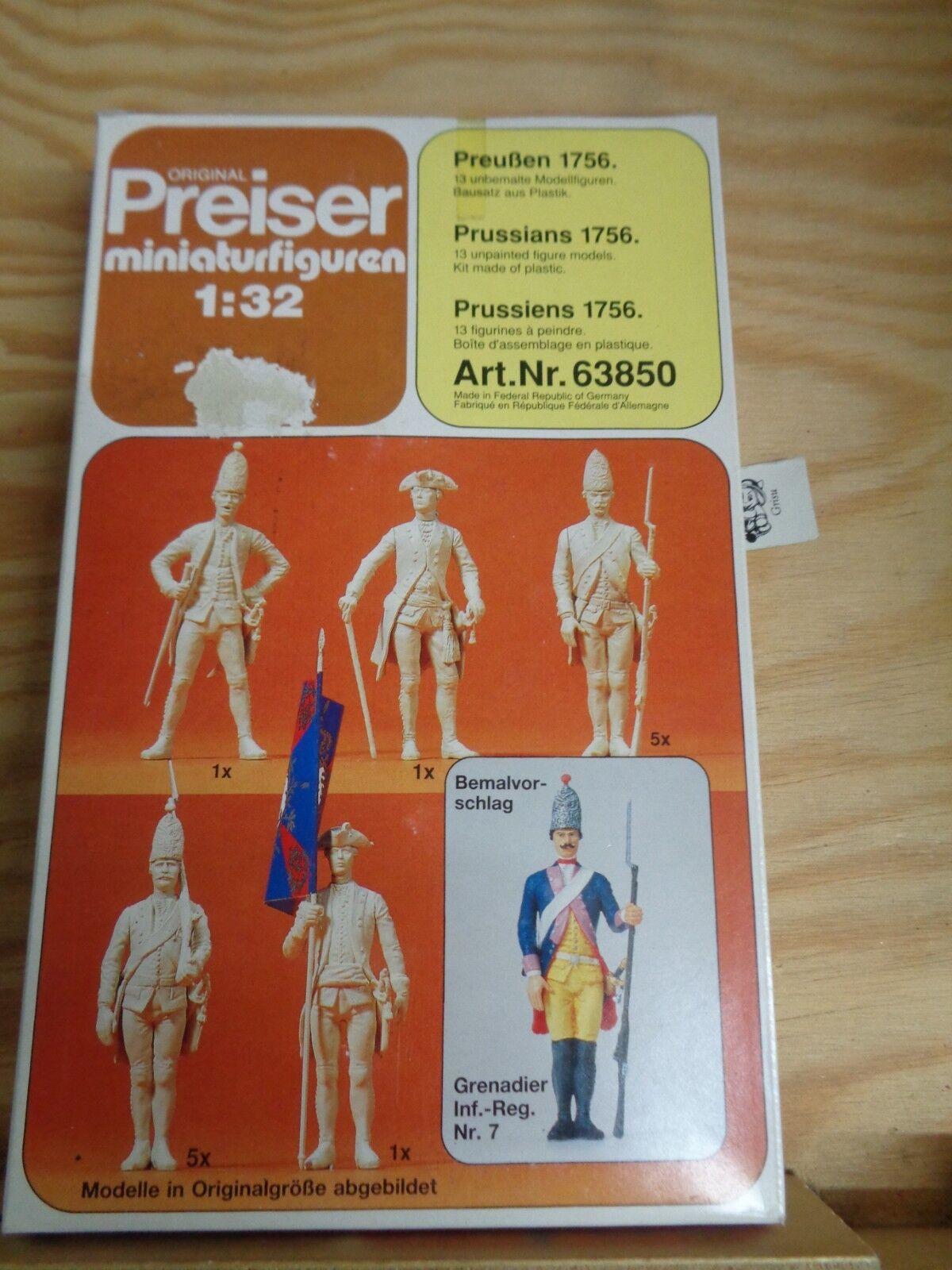 1 32 Preiser 63850 Prussia 1756. Kit. SCATOLA ORIGINALE