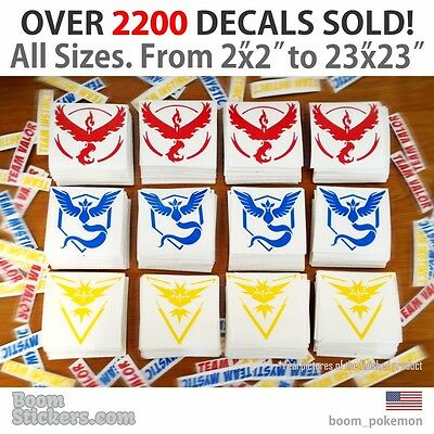 ALL SIZES Pokemon go Team Valor Moltres Decal Phone Tablet Laptop Wall Window