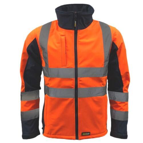 Standsafe Reflective High Visibility Hi Vis Soft Shell Jacket Yellow Grey