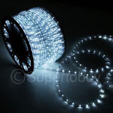 White LED Rope 150ft 110V 2 Wire Flexible DIY Lighting Outdoor Christmas Xmas