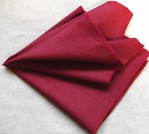 Hankie COTTON Pocket Square Handkerchief MENS Hanky CLARET RED
