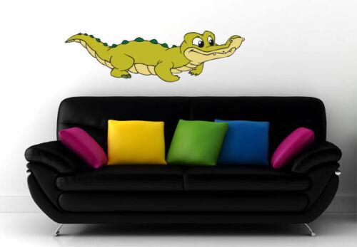 Tapisserie Benjamin Fleurs Crocodile Koko Vert murale chambre enfant déco