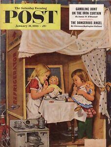 1953 Saturday Evening Post January 31 - Baltimore slums; Shriner's Circus; Dolls