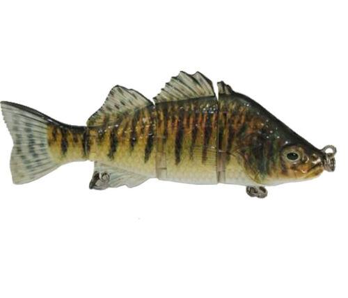 Multi Jointed Fishing Lure  Bass Fishing Swimbait Lure Life-like Perch Rainbow S