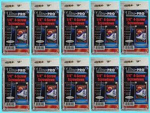 10-Ultra-Pro-1-4-034-4-SCREW-SCREWDOWN-RECESSED-Standard-Trading-Card-Holder-3x5