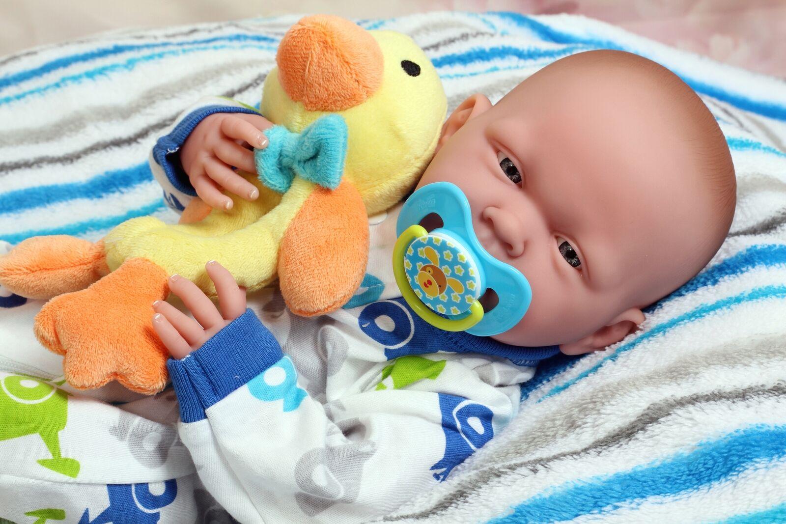Baby Boy Doll Realistic 15  Real Alive Soft Vinyl Washable Preemie Life Like