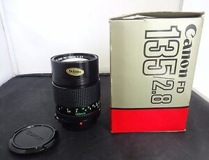Canon 135mm f/2.8 Manual Focus FD Mount Lens