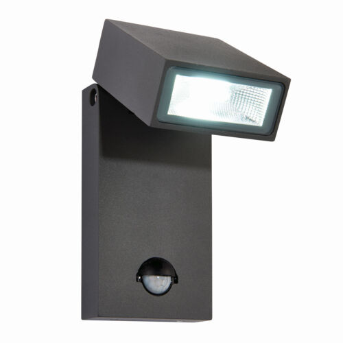 Saxby ALLEGRI PER GIARDINO ESTERNO PIR Sensore di sicurezza regolabile LED luce muro IP44