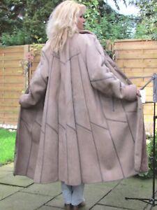 WOMENS-XXL-XXXL-Shearling-Lambskin-Sheepskin-Baby-Lamb-Coat-Jacket-Ladies-D3937