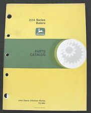 OPERATORS SERVICE MANUAL FOR JOHN DEERE 24T 24WS BALER OWNER PARTS CATALOG