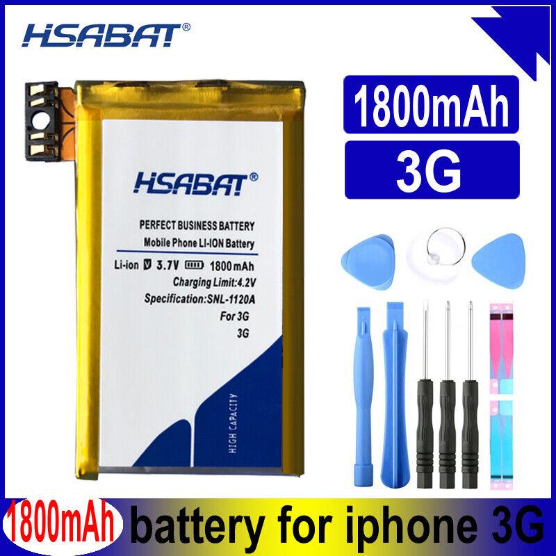 HSABAT 616-0372 616-0428 616-0433 HLP088-H1942 1800mAh Battery for iPhone 3G 8GB