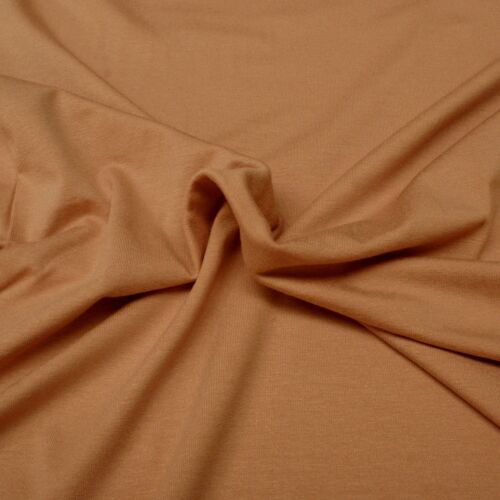 95/% Viscose HalfM Viscose Stretch Jersey Knit Fabric 5/% Lycra Plain Peach