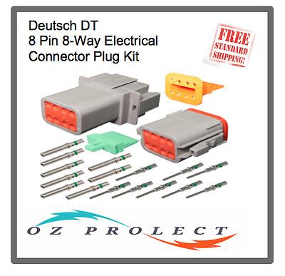 Deutsch DT Caterpillar Black 4-Way 4 Pin Electrical Connector Kit Auto Marine