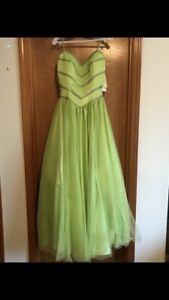 Gorgeous green sequin quinceanera, sweet 16, prom, wedding dress Worn Once