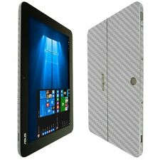 Skinomi Silver Carbon Skin+Clear Screen Protector For Asus Transformer Mini 10.1