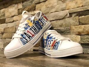 Top Canvas Basketball Shoes Sz. 9