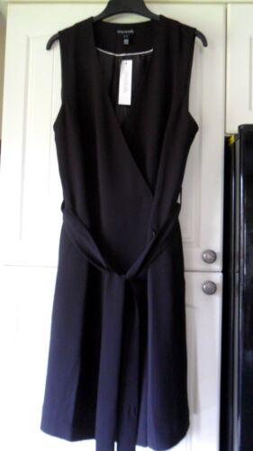 Crepe Size Lts Dress Bnwt Sally Tall 14 Wrapover Long Black wORIqI