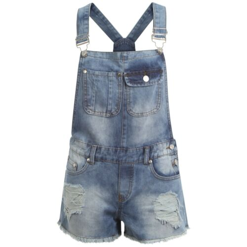 Women Ladies Denim Slim Fit Dungarees Ripped High Waisted Jeans Jeggings Pants