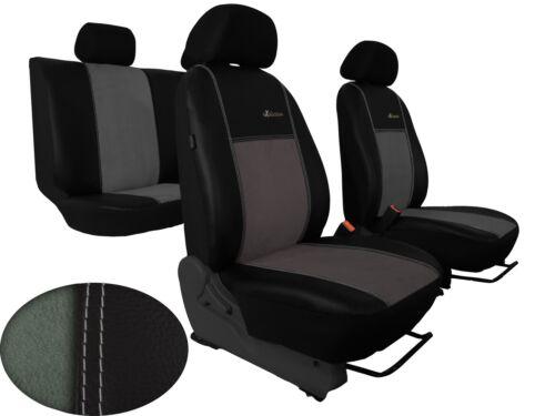 Suzuki Swift VI ab 2018 maßgefertigte Sitzbezüge Kunstleder /& Alkantra HELLGRAU.