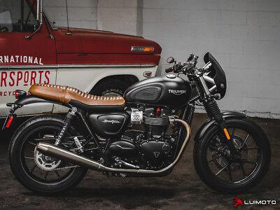 "Mirror stem Harley shovel Chopper Miroir Noir spiegelarm court 4/"" 10cm"
