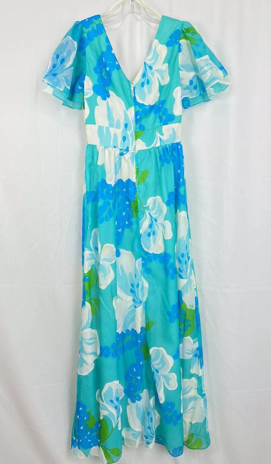 Vintage 60s Malia Honolulu Dress Size 8 Empire Wa… - image 2
