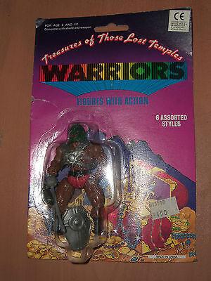 80's VINTAGE MOTU KO TREASURES OF THOSE LOST TEMPLES WARRIORS FIGURE MOC 6