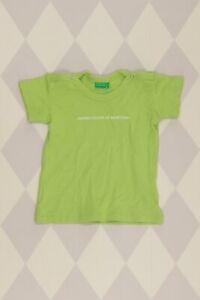UNITED COLORS OF BENETTON T-Shirt D 80 grün Oberteil Top Jungen