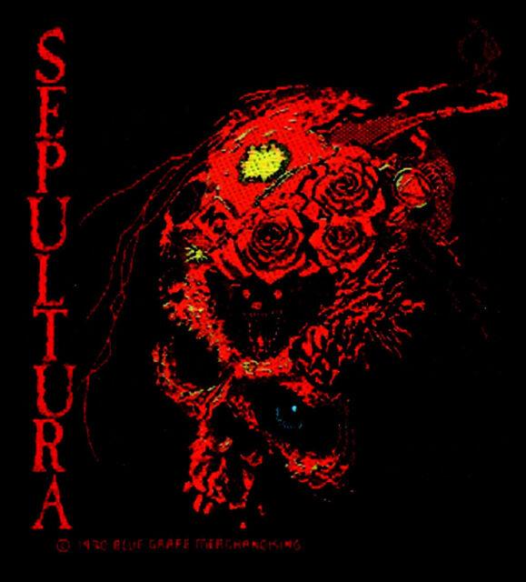 Sepultura - Beneath The Remains Skull Patch Aufnäher Thrash Metal Heavy Death