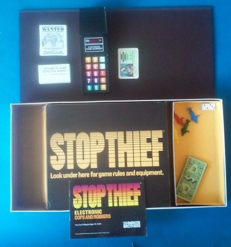 STOP THIEF  Electronic Cops & Robbers Game COMPLETE & WORKING  (VG) Condition