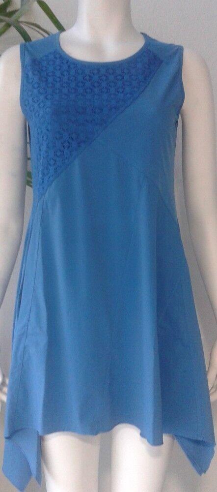 Maloka  Sky Blau Frosted Asymmetrical Petal Tunic (1 Left )
