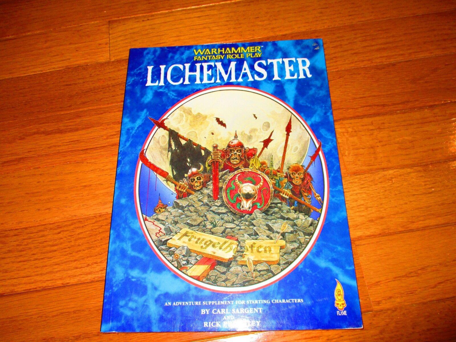 Warhammer Fantasy RPG 1st Ed Lichemaster