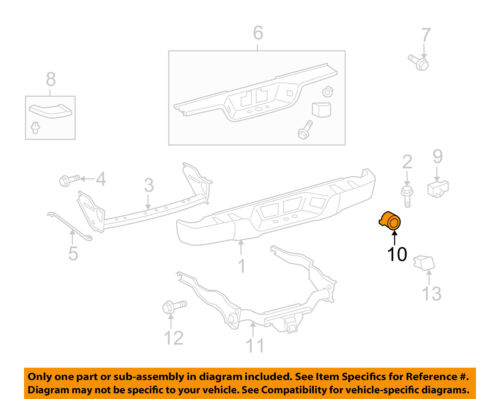 GENUINE TOYOTA TUNDRA 2013 CENTER REAR PARK SENSOR RETAINER 8934833030C0