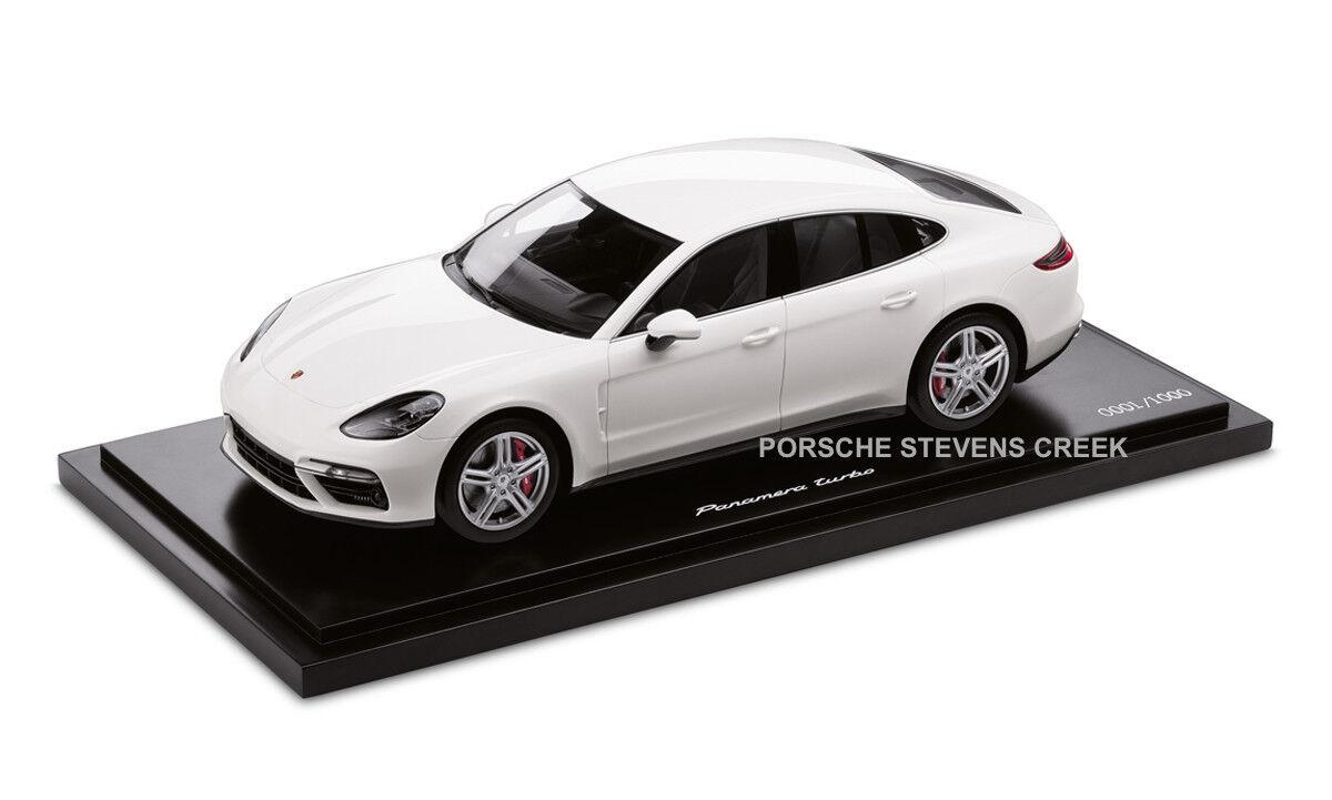Porsche Panamera Turbo G2 Gii coche modelo diecast escala 1 18 Edición Limitada biancao