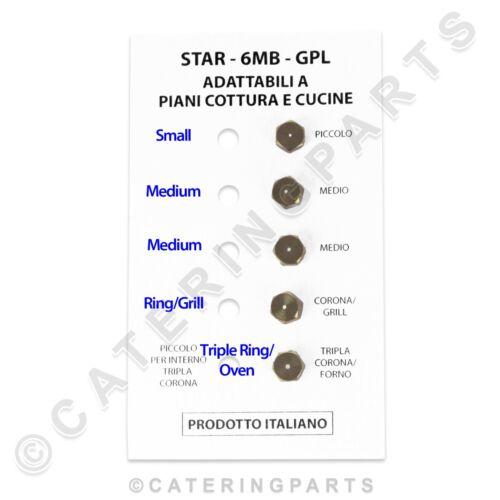 STAR Set di 5 X LP BRUCIATORE A GAS GPL PROPANO Kit Iniettore a getto filettatura M6 x 0.75